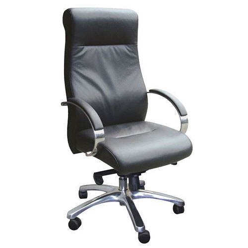 Senator Leather High Back Chair
