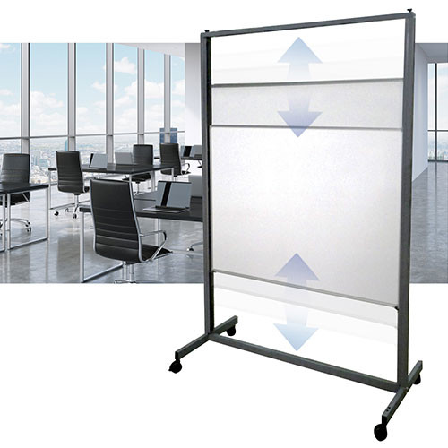 Aspire Vertical Sliding Whiteboard - Porcelain