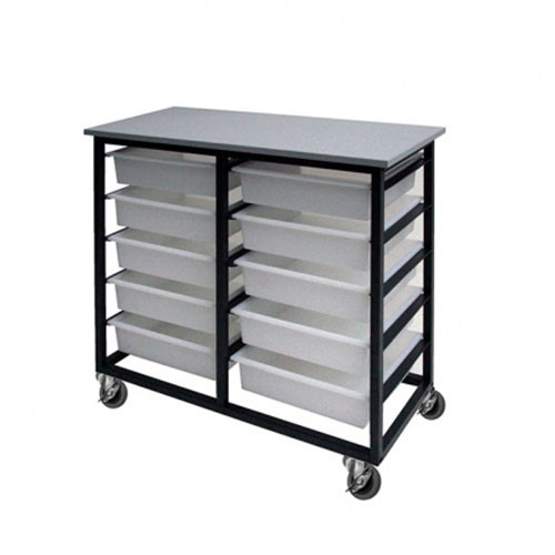 10 Mobile Tote Box Metal Trolley