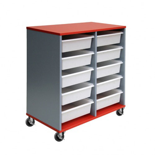 10 Mobile Tote Box Melamine Trolley