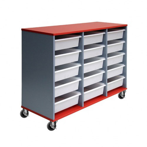 15 Mobile Tote Box Melamine Trolley