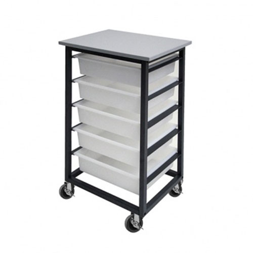 5 Mobile Tote Box Metal Trolley