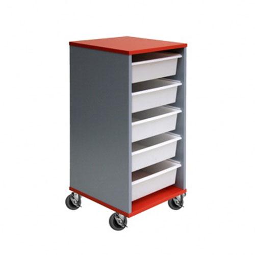5 Mobile Tote Box Melamine Trolley