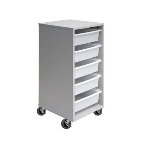 5 Mobile Tote Box Melamine Trolley