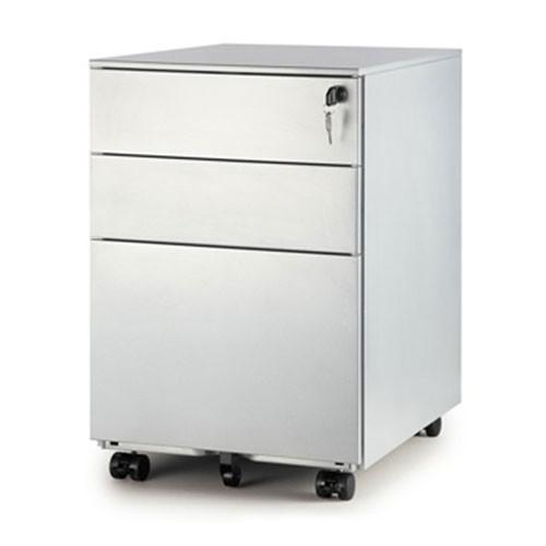 Mobile Pedestal - Silver