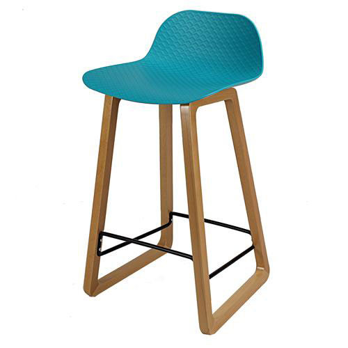Arco timber sled base stool