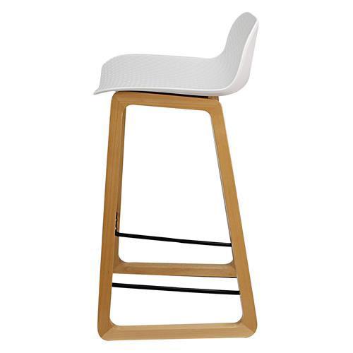 Arco timber sled base stool