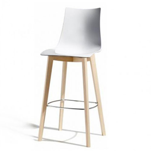 Zebra Stool - Timber Leg