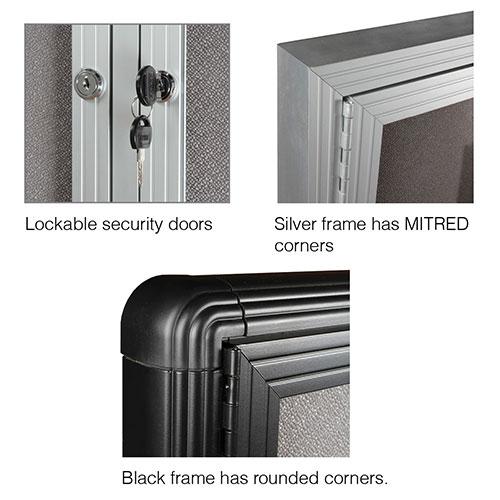 Be Noticed - Hinged Door Notice Case